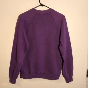 Vintage Sweaters - purple crewneck sweatshirt